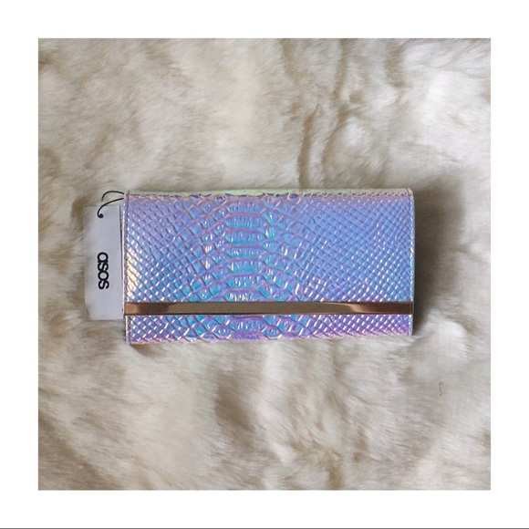 ASOS Handbags - ASOS New With Tag Iridescent Snakeskin Wallet